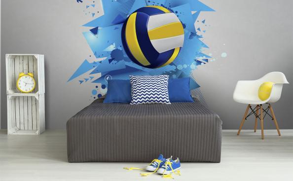 Papier peint volleyball pour la salle