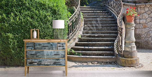 Papier peint vue en profondeur escalier