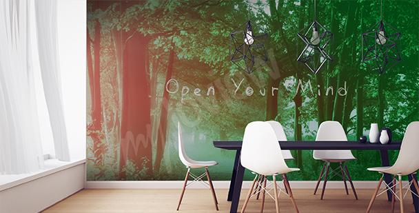Papier peint vue sur la forêt