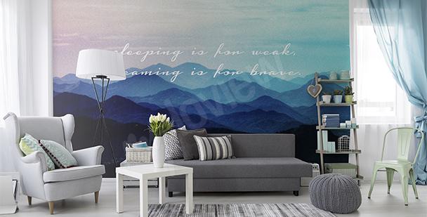 Papier peint vue sur les montagnes