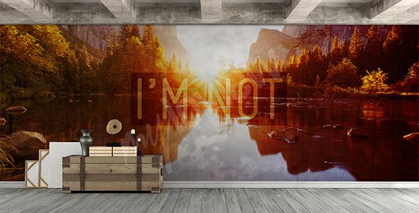 Papier peint vue sur un lac