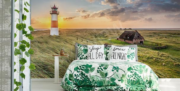 Papier peint vue sur un phare maritime