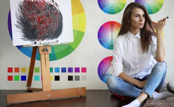 Papiers peints à l'école avec une palette de couleurs