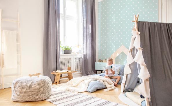 Papiers Peints avec des points pour la chambre d'un enfant