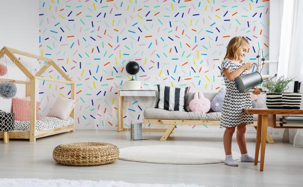Papiers peints motif coloré pour chambre d'enfant