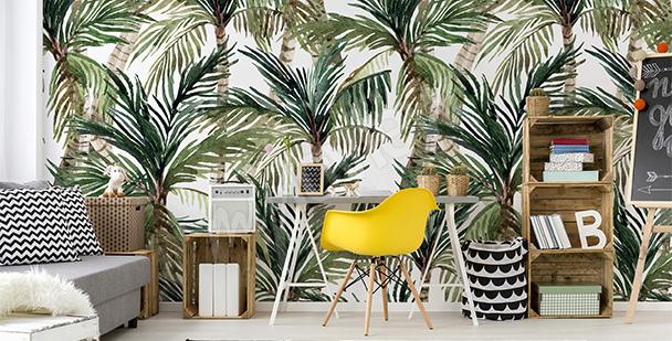 Papiers peints palmiers tropicaux