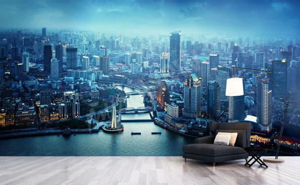 Papiers peints panorama de shanghai