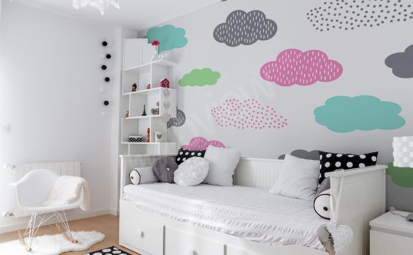 Papiers peints pour fille nuages colorés