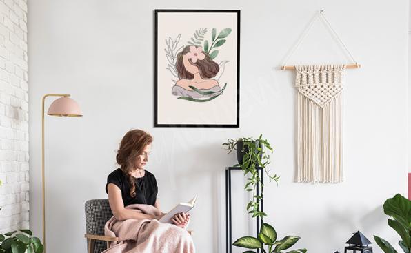 Portrait de femme aquarelle