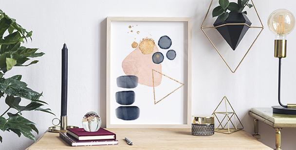 Poster abstrait aquarelle