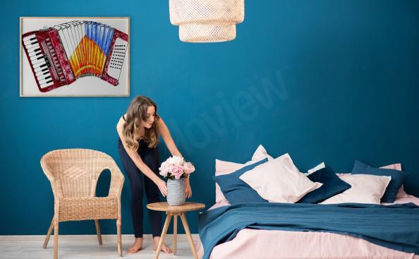 Poster accordéon pour une chambre à coucher