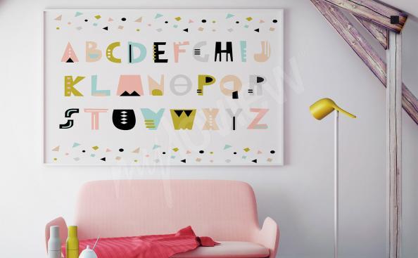 Poster alphabet pour chambre d'enfant