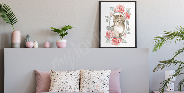Poster animal couleur pastel