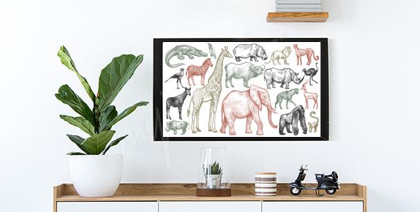 Poster animaux d'Afrique