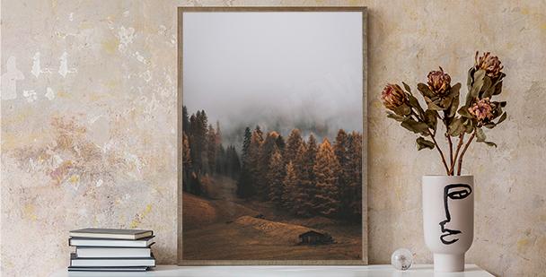 Poster nature minimaliste