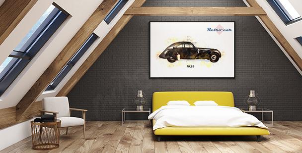 Poster avec des voitures de collection