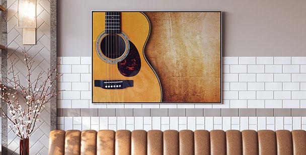 Poster avec guitare acoustique