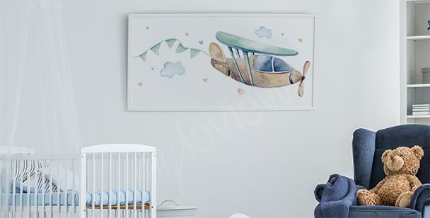 Poster avec un avion