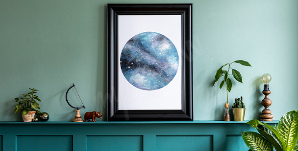 Poster avec un motif galaxy