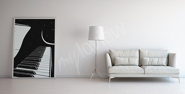 Poster avec un piano pour salon