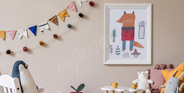 Poster avec un renard