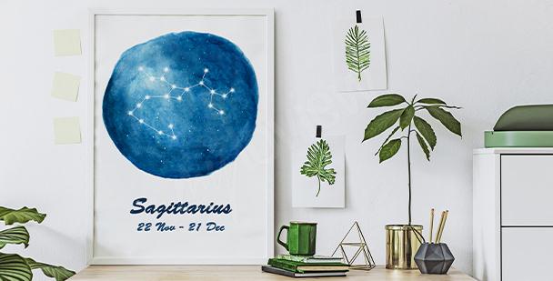 Poster avec un signe de zodiaque
