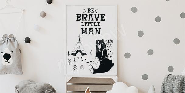 Poster pour un garçon avec inscription