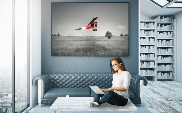 Poster avion rouge