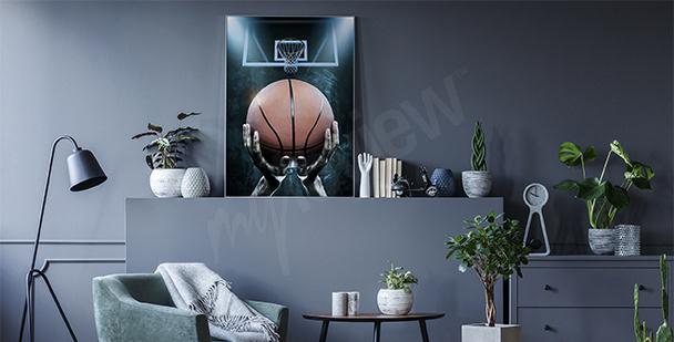 Poster ballon de basket-ball
