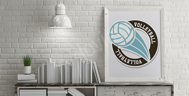 Poster ballon de volley-ball