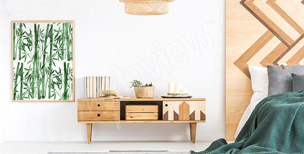 Poster bambou pour chambre à coucher