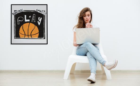 Poster basket-ball avec texte