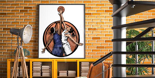 Poster basket-ball féminin