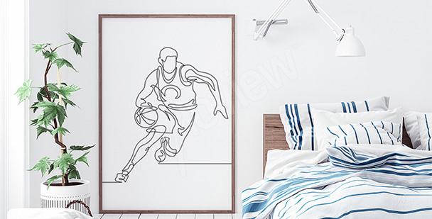 Poster basket-ball pour chambre à coucher