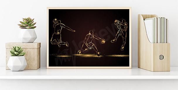 Poster basket-ball pour le bureau