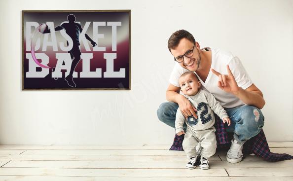 Poster basket-ball pour salon