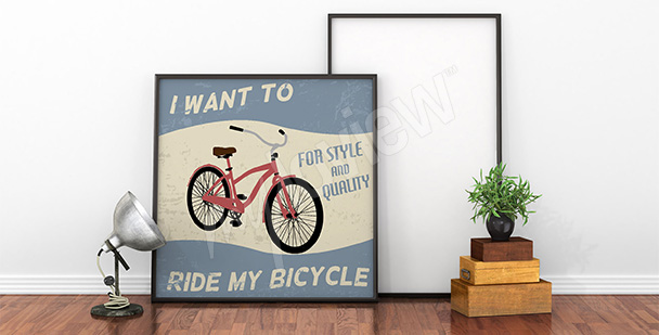 Poster bicyclette rouge