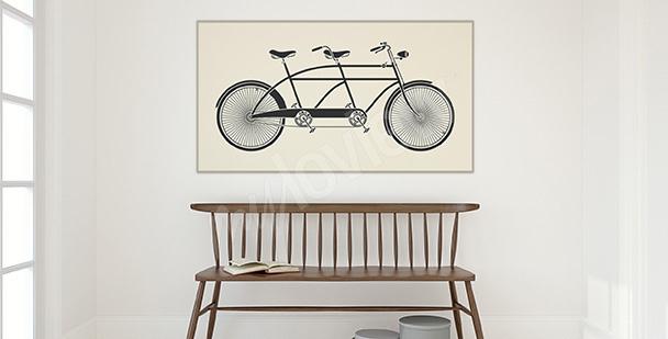 Poster bicyclette vintage