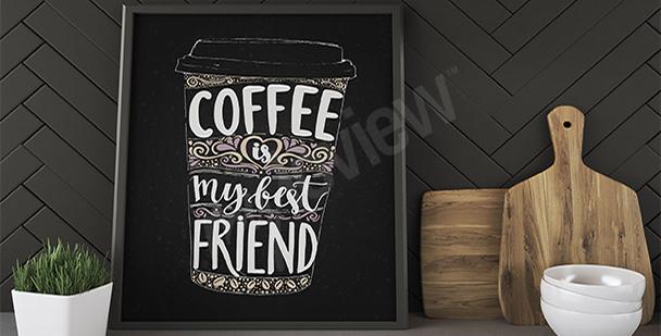Poster bol de café