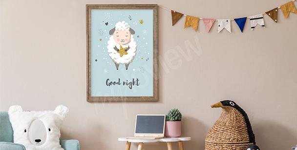 Poster brebis endormie