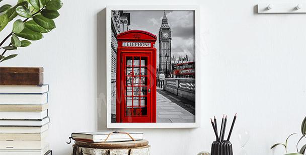 Poster cabine téléphonique rouge