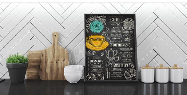 Poster café et menu