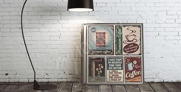 Poster café style rétro