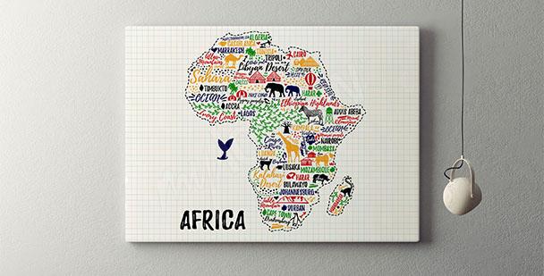 Poster carte d'Afrique
