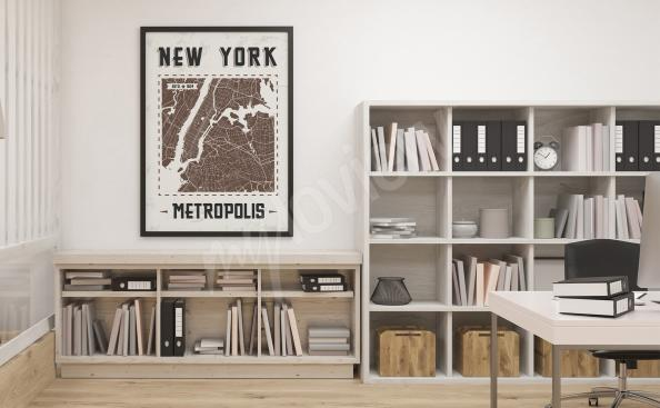 Poster carte de New York
