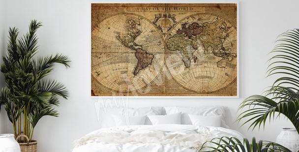 Poster cartographie rétro