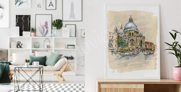 Poster cathédrale de Venise