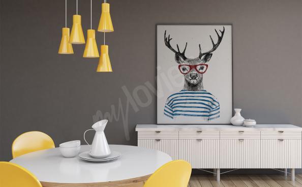 Poster cerf pour salon