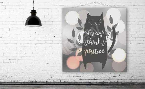 Poster chat et texte