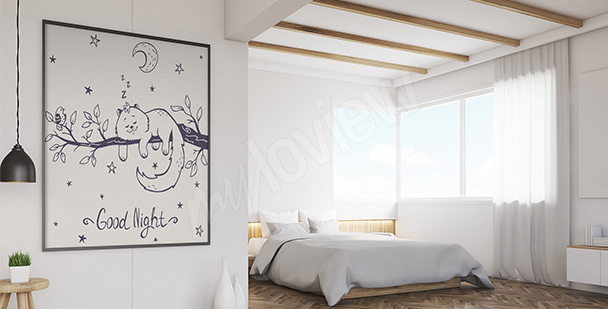 Poster chat pour la chambre à coucher